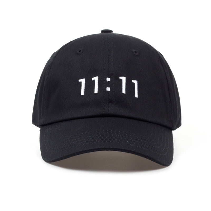 2018 new design solid 11:11 embroidery unisex personality fashion baseball cap adjustable casual hats outdoor good quality caps