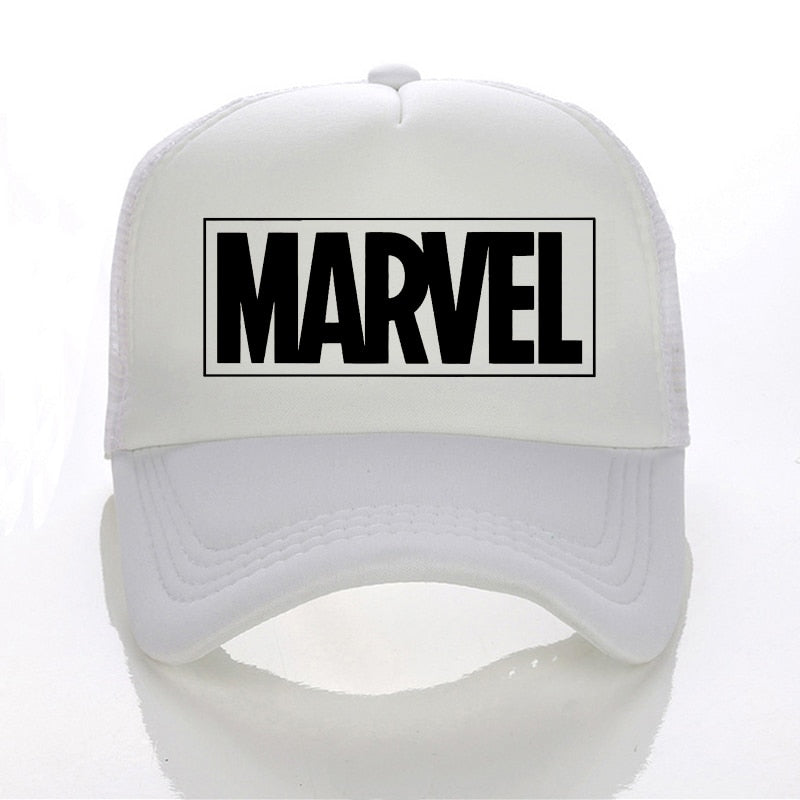 2018 new hat MARVEL letter Baseball Caps Summer sun hat Leisure Adjustable  Hats Mesh trucker hat 75e8b0e0f16