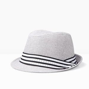 2018 new unisex cotton plaid Spring autumn men women British retro jazz hat fashion Panaman hats fedora Fedoras
