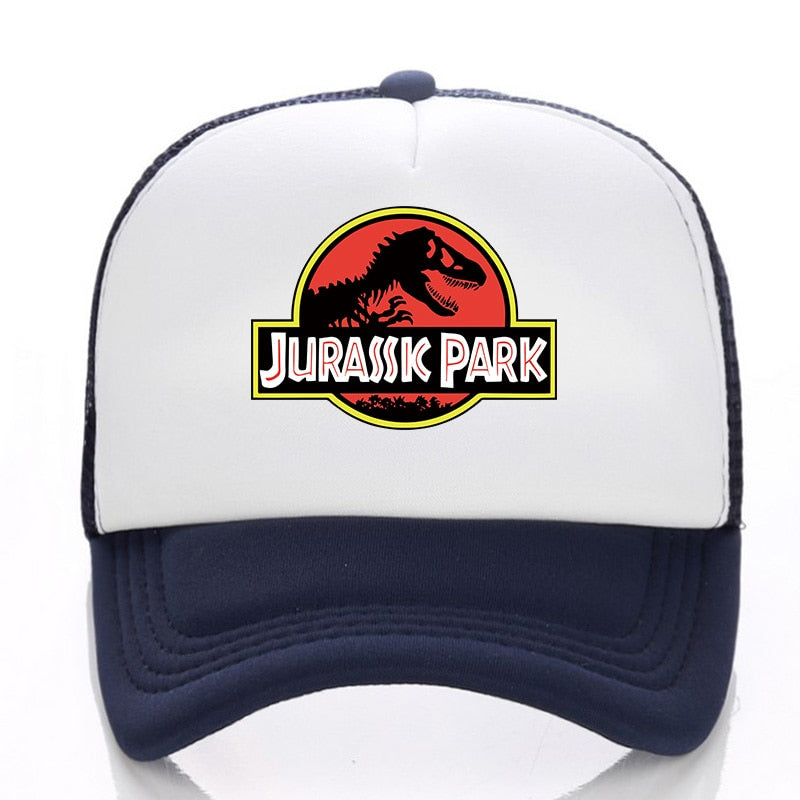 2020 the film Jurassic Park Dinosaur Print Flat Bill Visor Trucker Caps Mesh Gorras Men Summmer Fashion Adjustable Snapback Hats