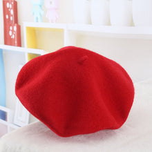 Load image into Gallery viewer, 2018 winter Cheap 100% Wool Solid Color Beret Caps Female Bonnet Women caps Lady Painter All Matched Warm Walking Hat Wholesale