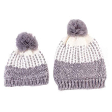 Load image into Gallery viewer, 2pcs Mom And Daughter Matching Beanie Cap Keep Warm Winter Knitted Hats Gorro Chapeu Amazing New 2016