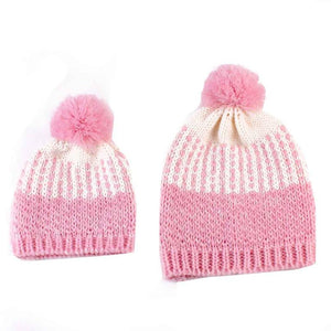 2pcs Mom And Daughter Matching Beanie Cap Keep Warm Winter Knitted Hats Gorro Chapeu Amazing New 2016