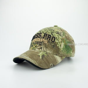 3-3 Bass pro shops camouflage baseball cap male outdoor female man Korean version of the sun shade sunscreen hats