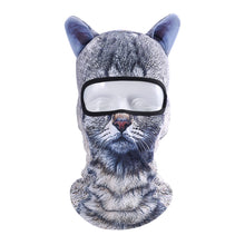 Load image into Gallery viewer, 3D Cut Animal Ear Balaclava Full Face Mask Bicycle Hats Snowboard Party Halloween Winter Warmer Face Mask Cat Dog for Men Women