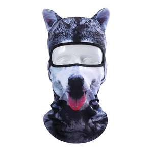 3D Cut Animal Ear Balaclava Full Face Mask Bicycle Hats Snowboard Party Halloween Winter Warmer Face Mask Cat Dog for Men Women
