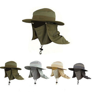 4 Color Outdoor Unisex Large Round Brim Sun Block Quick Drying Fishing Hats Summer Fishing Sun Cap Climbing Bucket Hat