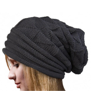 4 Colors New Fashion Men Women Warm Snow Winter Casual Beanies Solid Knit  Hat Cap Women 92aee1d0c41e