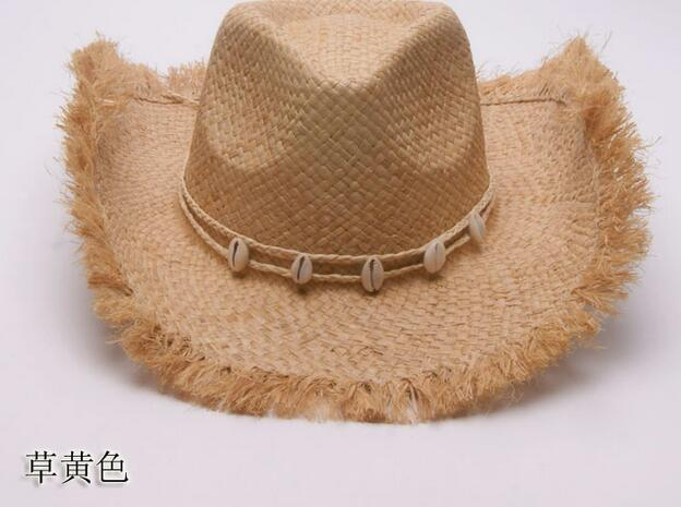 e3dbfee6d8e34 5pcs lot free shipping weatern style man casual summer straw hat male  casual straw hat man cowboy hat