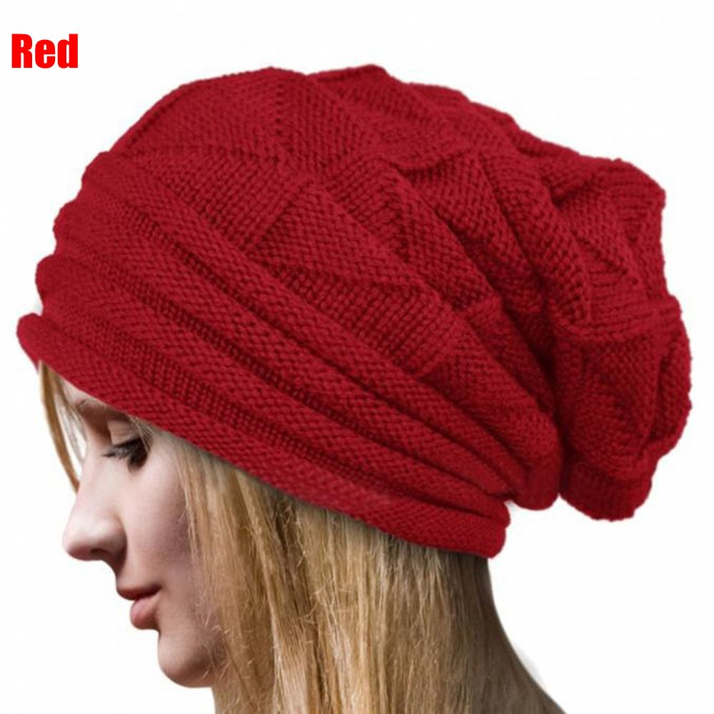6 Color Choosing!! 1PC Women Winter Crochet Beautiful Fashion Hat Wo Knitted Beanie Warm Caps Solid Skullies Casual Lady Hat