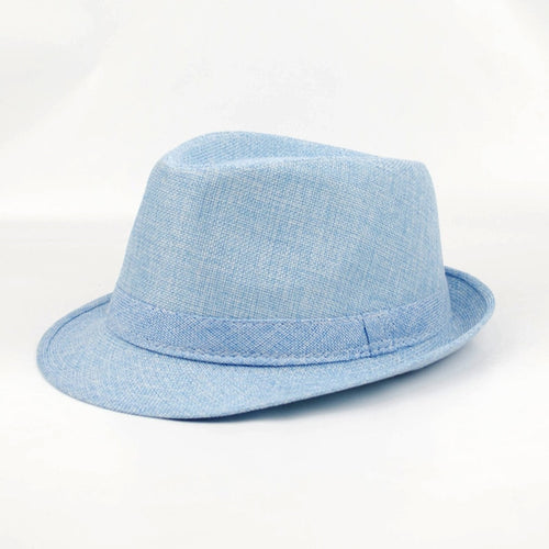 6 Colors Spring Summer Autu Men Fedoras Top Jazz Hat Fashion Thickening Bowler Hats Quality Imitation Linen Round Caps