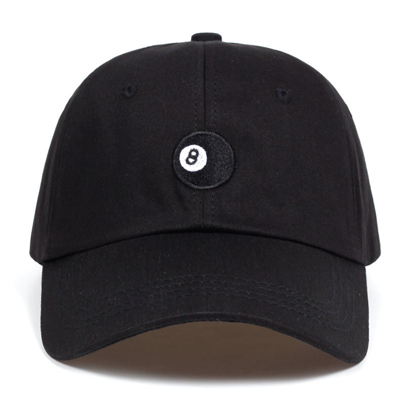 8 Ball - black Unstructured dad hat fashion Baseball Caps High Quality Snapback Cotton% golf cap hats Garros Casquette