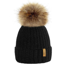 Load image into Gallery viewer, 9 Colors Parents Kids Knitted Beanie Hat Winter Warm Faux Fur Pom Pom Women Men Caps Autumn Baby Boy Girl Unisex Hats Skullies