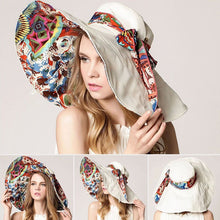Load image into Gallery viewer, [AETRENDS] 2017 Fashion Design Flower Foldable Brimmed Sun Hat Summer Hats for Women UV Protection Z-2657