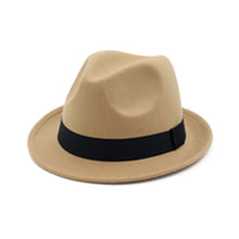Load image into Gallery viewer, [AETRENDS] 2017 New Winter Fedora Hat Men Women Wo Felt Jazz Hat Vintage Panama Cap Z-5951