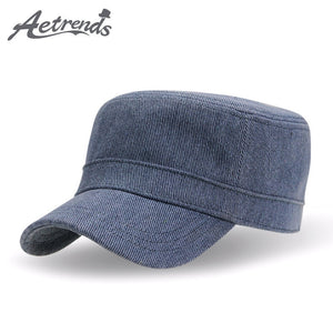 [AETRENDS] 2017 Retro Cot Men's Military Cap Navy Sailor Captain Hat Z-3029