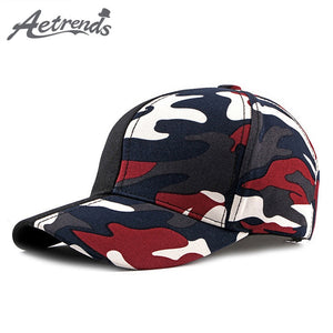 dccc4ccfdd0  AETRENDS  2018 Patchwork camouflage baseball cap red champion snapback men  sports woman cap outdoor