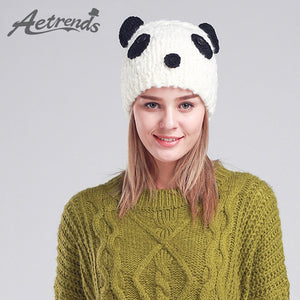 AETRENDS  Cute Panda Beanies Winter Beanie Hats for Women Novelty Caps  Z-3080 ed18edffebf