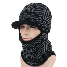 Load image into Gallery viewer, Winter Hat Men Women Knitted Hat Scarf Skullies Beanies Winter Beanies For Men Caps Mask Balaclava Bonnet Cap Hats 2020