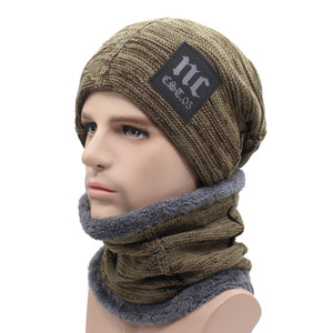 Winter Knitted Hat Beanies Men Women Scarf Caps Mask Gorras Bonnet Warm Baggy Winter Hats For Men Skullies Beanies Hats