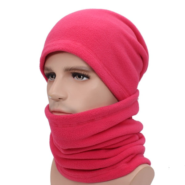 3ee62ff25c1 Winter Knitted Hat Scarf Beanie Men Women Cap Balaclava Male Gorras ...