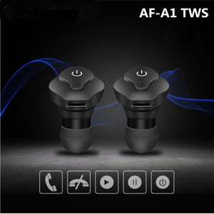 AF-A1 Twins TWS Wireless Earphone Mini Bluetooth V4.2 Headphones earbuds Stereo Sports music Headset for IPhone Samsung Xiaomi