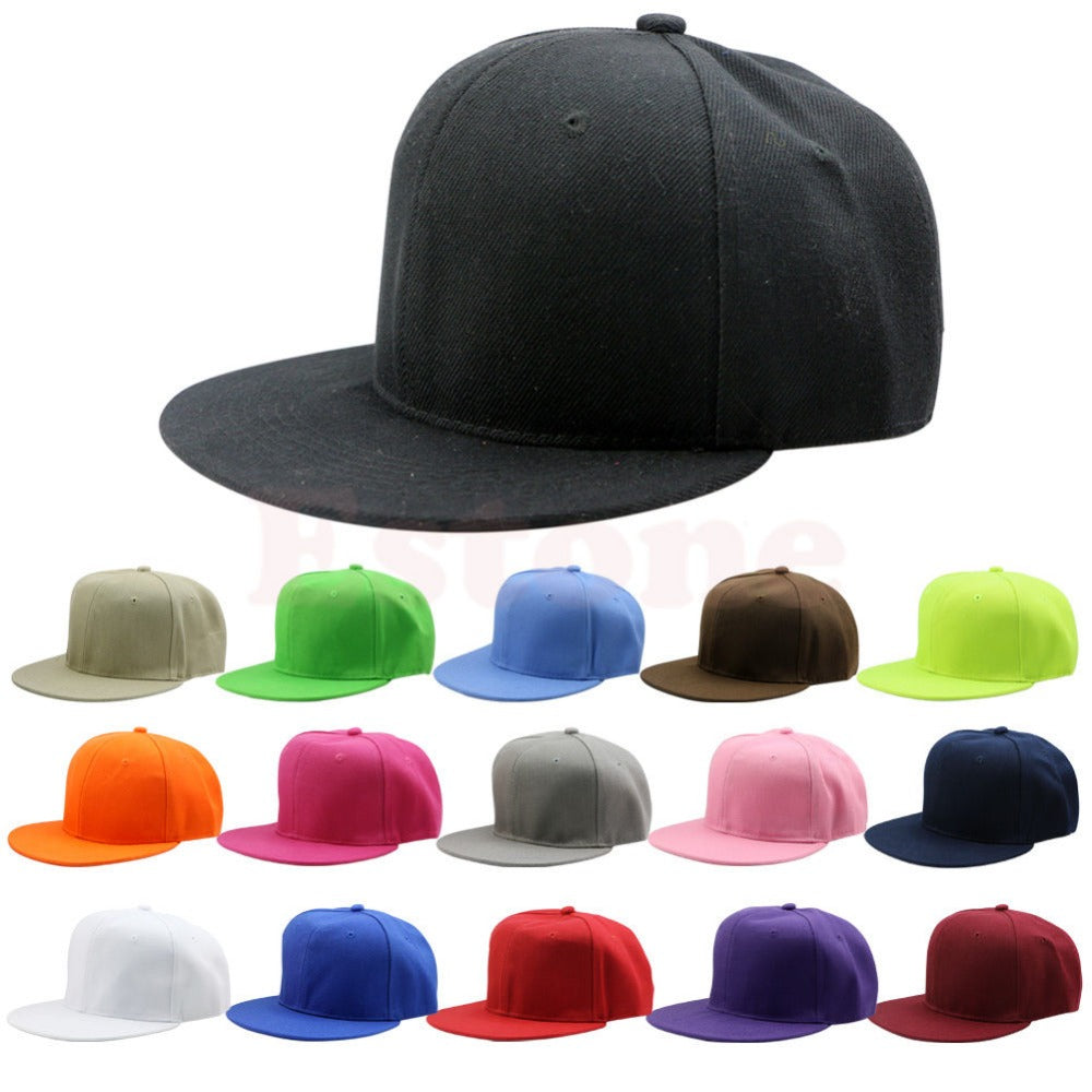 Adjustable B-boy Baseball Cap Blank Unisex Men's Hip-Hop Plain Snapback Hats Drop ship