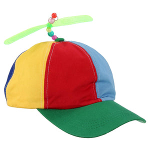 Adjustable Propeller Ball Baseball Cap Hat Multi-Color Clown Costume Accessory