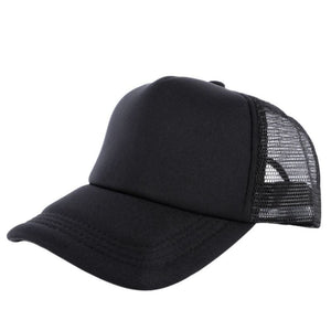 Adjustable Summer Cozy Hats for Men Women Attractive Casual Snapback Solid Baseball Cap Mesh Blank Visor Outside Hat S3