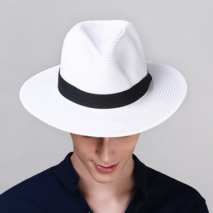 ea1d99bcc3b Adult Panama Sun Cap Wide Brim Straw Sunscreen Cap Prevented Bask Holiday  Leisure Summer Sunscreen Straw Sun Cap B-8258