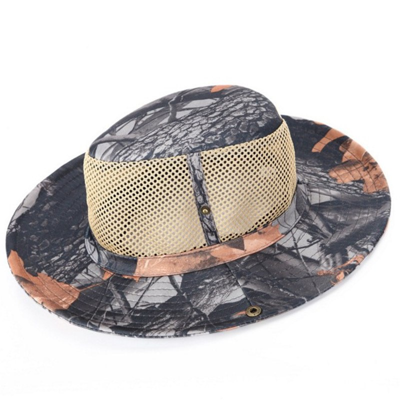 Airsoft Bionic Camouflage Nude Bucket Hats Military Mens Summer Hat
