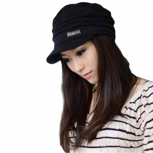 Amazing Fashion Bouffancy Women Army Military Cap Flat -Top Hat Student Hat Vintage Navy Hat winter autumn hat