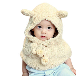 Amazing Plush Wo Bear Hats Girls Baby Shawls Hooded Cowl Beanie Caps Lanlee Winter Girls Boys Warm Scarf Bib Caps Cloak Hats