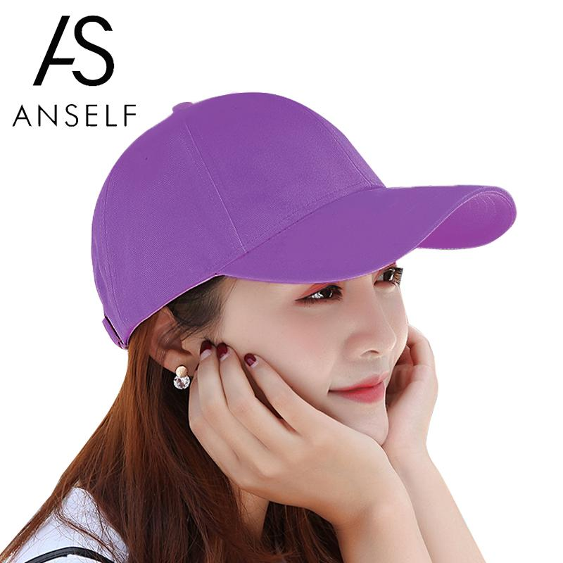 Fashion Women Men Unisex Baseball Cap Solid Color Strapback Baseball Hat Summer Trucker Cap Black/Purple/White Mens Cap