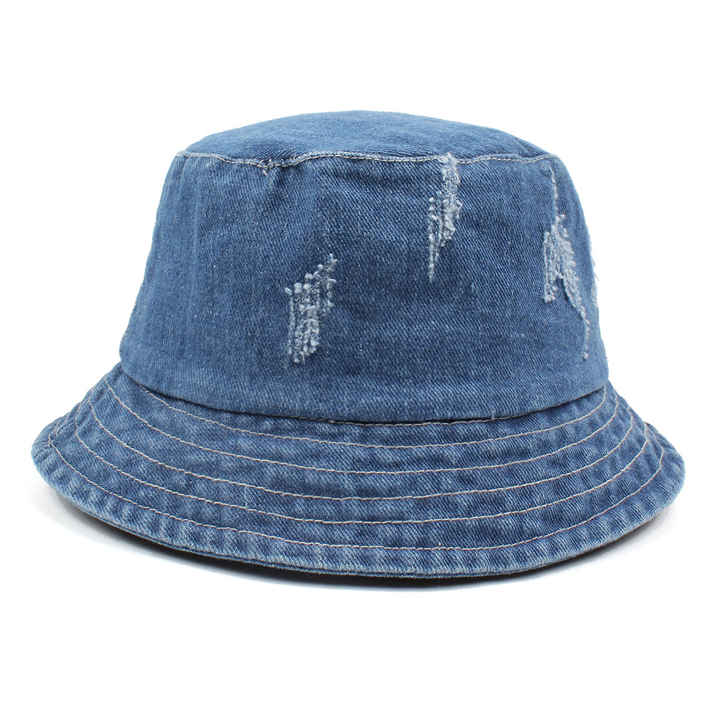 Women Men Bonnie Bucket Hat Denim Distressed Brim Visor Sun Shade ... 41dce5be7d6