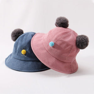 3ff53f5698c796 Autu Winter Baby Boys Girls Toddler Cute Bucket Hats Caps Reversible Sun  Hat UV Protection