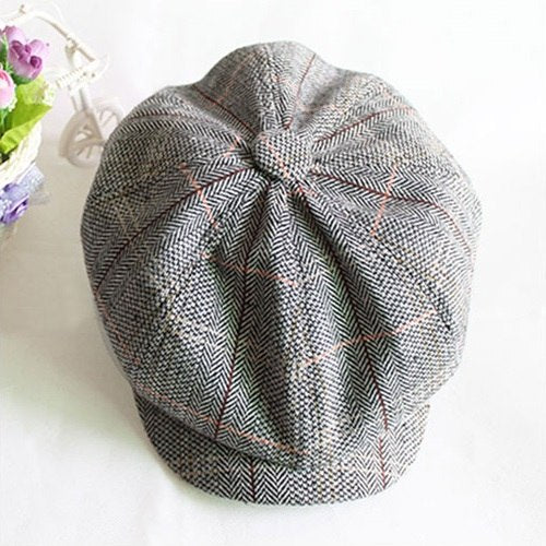 Autu Winter Beret Caps herringbone tweed newsboy cap men Octagonal Cap flatcap, travel flat cap hat boina masculina