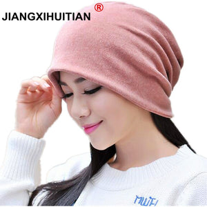 480896796b1e8 Autu Winter Hats For Men Women Balaclava Mens Skullies And Beanies Turban  Hat Female Stocking Hat Male Mask Cap Bonnet