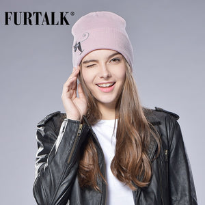 Autu Winter Stocking Hat Female Male Knitted Cuff Beanies Hats for Women Wo Hat  Cap Ski 98408ddb7