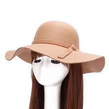 Load image into Gallery viewer, Autumn Winter Wide Brim Women ladies Wo Felt hat trilby Fedoras Princess Hats bowler hat chapeau for female GH-45