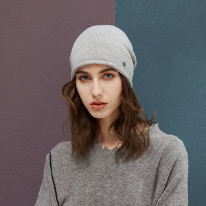 Autu Women Beanie Hats Female 2018 New Winter Knitted Slouchy Caps Wo Warm Beanies For Girl Candy Color Young Stylish Hat