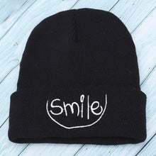 Load image into Gallery viewer, Autumn and winter new fashion knitted cotton hats beautiful smile embroidery warm and comfortable men and women general ski caps