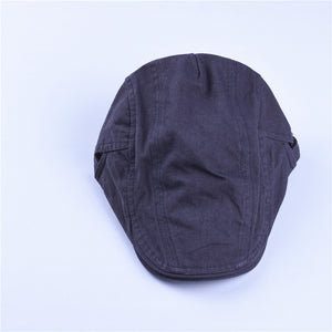 Autu winter cot berets caps for men Men Casual Peaked Caps grid embroidery Berets Hats black bige brown khaki gray