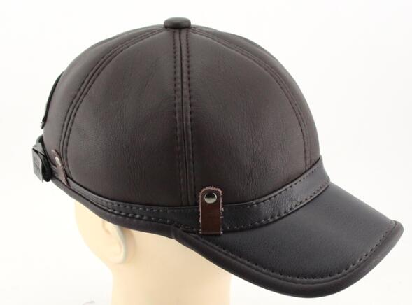 Winter Imitation Sheepskin Baseball Cap Biker Trucker Sports Snapback Hats For Men Hats Warm Caps Big Size Brown