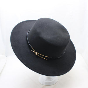 0639b3a3a84 2018 New Fashion Winter Wo Pork Pie Boater Flat Top Hat for Women Men Felt  Wide Brim Fedora Player Hat