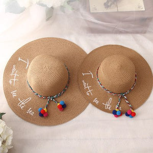BINGYUANHAOXUAN 2018 New Style Adult Women Girls Fashion Embroidery Sun Hat UV Protect Big Bow Summer Beach Straw Hat