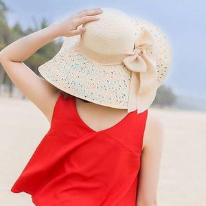 BINGYUANHAOXUAN Brand Large Brim Floppy Floppy Hat Sun Hat Beach Women Hat Foldable Summer UV Protect Travel Casual Hat Female
