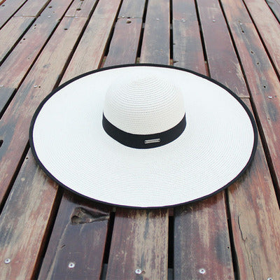 BINGYUANHAOXUAN Summer Women Big Sun Brim Hats For Girl Fashion Floppy Straw Hat Beach Hook Feminino Folded Floppy Hat Beach Cap