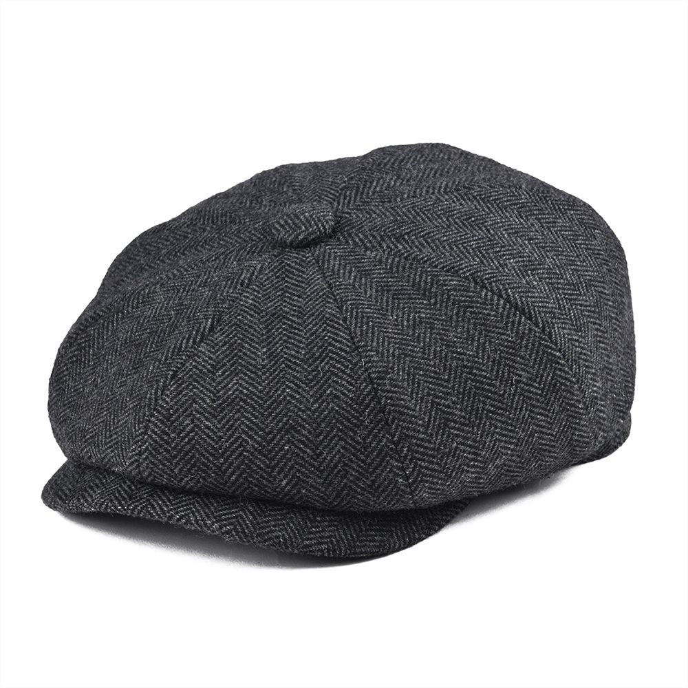 1e1831623 Wo Tweed Newsboy Cap Herringbone Men Women Classic Retro Hat with Soft  Lining Driver Cap Black Brown Green 005