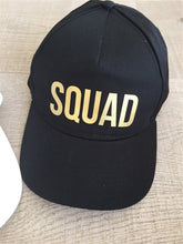 Load image into Gallery viewer, BRIDE SQUAD Baseball Caps Golden Print New Style Hats Women Wedding Preparewear White Black Bachelor party Summer Lovers Hats